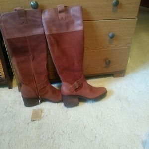 Tall women's leather boots